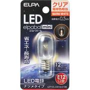 LDT1CL-G-E12-G106 [LED電球 ナツメ球タイプ E12口金 電球色 クリア 15lm LED elpaball mini エルパボール ミニ]