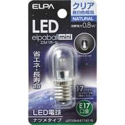 LDT1CN-G-E17-G115 [LED電球 ナツメ球タイプ E17口金 昼白色 クリア 40lm LED elpaball mini エルパボール ミニ]