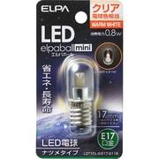 LDT1CL-G-E17-G116 [LED電球 ナツメ球タイプ E17口金 電球色 クリア 35lm LED elpaball mini エルパボール ミニ]