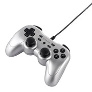 BSGP1204PSV [USBゲームパッド PC/PS3対応 アナログ/デジタル 12ボタンタイプ 連射機能付 シルバー]