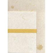 YCS291 [越前和紙 封筒(洋2)・便箋(A5)セット 黄]