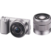 NEX-5ND SQ JE [ダブルレンズキット E18-55mm F3.5-5.6 OSS + E16mm F2.8 シルバー 海外仕様製品]