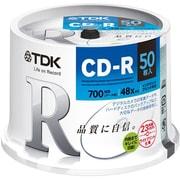 CD-R80PWDX50PE [データ用 CD-R 700MB 48倍速対応 インクジェットプリンタ対応ホワイトワイドレーベル スピンドルケース 50枚入り]