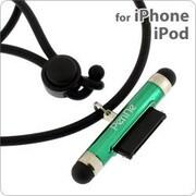 タッチペン一体型ネックストラップPenNe GR グリーン [ネックストラップ]