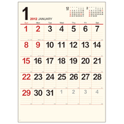 クリーム・メモ月表 [2012年カレンダー]