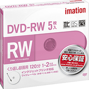 DVDRW120PWAC5PAIM [録画用DVD-RW 120分 2倍速 CPRM対応 インクジェットブリンタ対応 5枚パック]