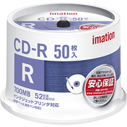 CDR80PWB50SAIM [データ用CD-R 700MB 52倍速 インクジェットブリンタ対応 50枚パック]