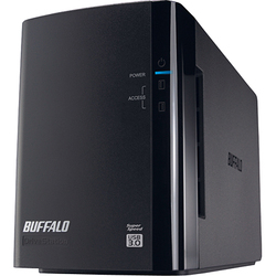 HD-WL4TU3/R1J [USB3.0接続 外付けハードディスク ミラーリング機能搭載 2ドライブモデル ドライブステーション 4TB]
