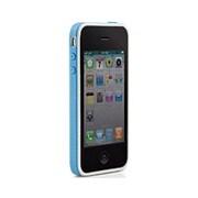 PH11061-B [iPhone4S/4用バンパー型シリコンケース ブルー]