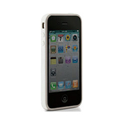 PH11061-W [iPhone4S/4用バンパー型シリコンケース ホワイト]