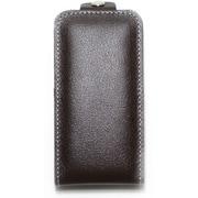 iPhone4/4S対応 エンボスレザー カバー付きケース ブラウン