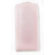 iPhone4/4S対応 エンボスレザー カバー付きケース ピンク