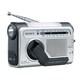 ICF-B03 S [FM/AMポータブルラジオ シルバー 手回し充電対応]