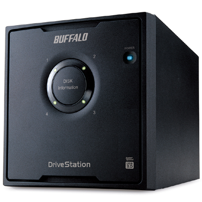 HD-QL12TU3/R5J [USB3.0接続 RAID5対応 外付けハードディスク 12TB 4ドライブ搭載モデル]