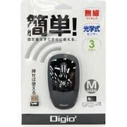 MUS-RKT85BK [USB接続 3ボタン 2.4GHzワイヤレスオプティカルマウス ブラック]