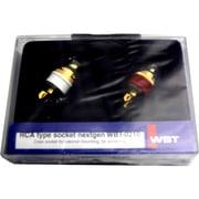 WBT-0210CU(R/W) [RCAジャック 銅素材タイプ 赤/白]