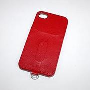 PIP-CHC2R [iPhone 4S/4用カードホルダー付きケース レッド]