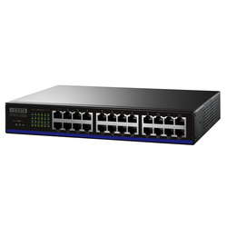 ETX-ESH24NBK [EEE省電力機能搭載100BASE-TX/10BASE-T 対応スイッチングハブ(24ポート) ブラック]