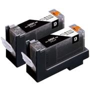 ECI-CA09B2P [キヤノン BCI-9BK2P 互換リサイクルインクカートリッジ 2本パック]
