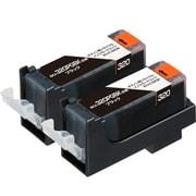 ECI-C320B2P [キヤノン BCI-320PGBK2P 互換リサイクルインクカートリッジ ブラック2本パック]