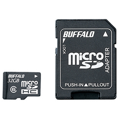 RMSD-32GC6SA [microSDHCカード Class6 32GB SD変換アダプター付]