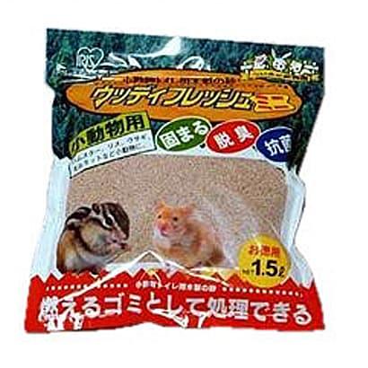 小動物用 トイレ用木製の砂 ウッディフレッシュミニ 1.5L