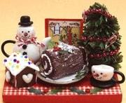 3210 12ヶ月のミニチュアスウィーツキット メリークリスマス [季節のミニチュアキット]