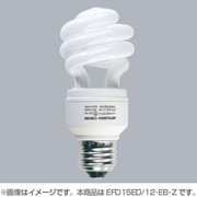EFD15ED/12 EB Z [電球形蛍光灯 スパイラルピカファンプラス E26口金 3波長形昼光色 D15形(12W)]
