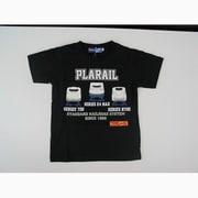 プラレール新幹線配列プリントTシャツ [黒 110cm]