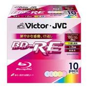 BV-E130EX10 [録画用BD-RE 書換え型 1-2倍速 片面1層 25GB 10枚 カラーレーベルインクジェットプリンター対応]