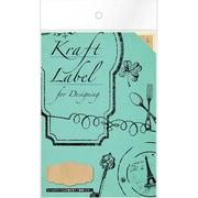 08906■Kraft Label for Designingemblem  [Kraft Label]