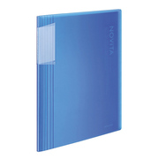 ラ-N60B [クリヤーブック<ノビータ>固定A4縦60枚透明青]