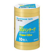 T-SK15N [セロハンテープ工業用 15mmX35m 10巻入り 大巻 巻芯径76mm]