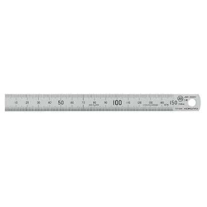 TZ-1341 [ステンレス直定規C型JIS1級15cm]
