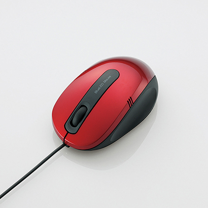 M-BL17UBRD [BlueLEDマウス 有線 3ボタン Mサイズ]