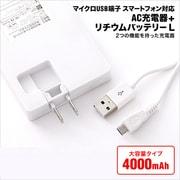 AI9DN52 [スマートフォン対応 AC充電器+リチウムバッテリー 4000mAh]