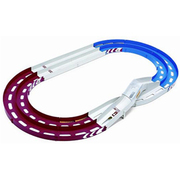 94893 [ミニ四駆コース オーバルホームサーキット 立体レーンチェンジタイプ トリコロール(レッド/ブルー/ホワイト)]
