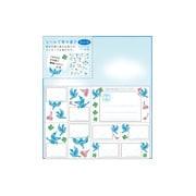 33179006 [カラー色紙 シール付 青い鳥柄]