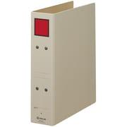 4355 [保存ファイル 4355 B5タテ型 とじ厚50mm 表紙(グレー)スクエアパターン色(赤)]