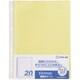 103SPDP-20キイ [シンプリーズ 透明ポケット 103SPDP-20 A4タテ型 台紙色:黄]