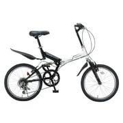 Raychell MFWS-206R [折りたたみ自転車 20型 外装6段変速 ホワイト/ブラック]