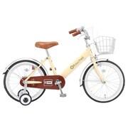 KB-18R [幼児用自転車 Raychell(レイチェル) 18型 アイボリー/ブラウン]