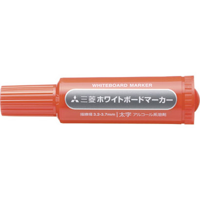 PWB-7M(N) 15 [ホワイトボードマーカー 太字丸芯 赤]