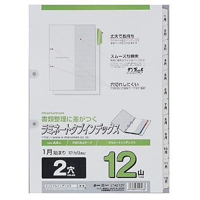 LT4212Y [A4 ラミタブ見出し 2穴 1~12月]