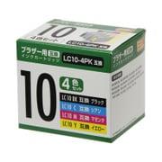PP-BLC10-4P [ブラザーLC10互換インク 4色]