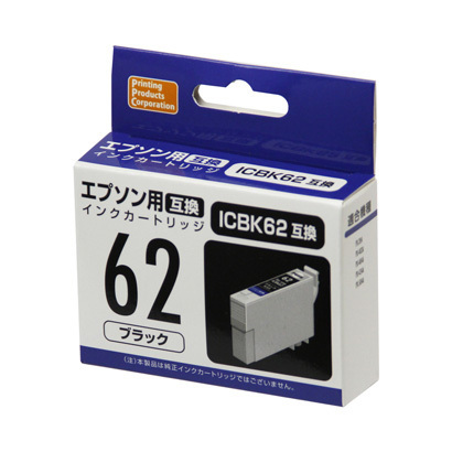 PP-EIC62BK [エプソンIC62互換インク ブラック]