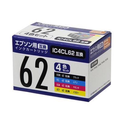 PP-EIC62-4P [エプソンIC4CL62互換インク 4色]