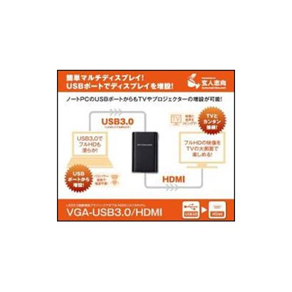 VGA-USB3.0/HDMI [USB3.0接続 グラフィックアダプター HDMI接続モデル]