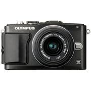 E-PL5 レンズキット ブラック [OLYMPUS PEN Lite(オリンパス ペン ライト) ボディ+「M.ZUIKO DIGITAL 14-42mm F3.5-5.6IIR」 ブラック]