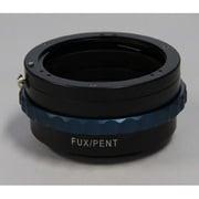 NOVO FUX/PENT アダプター絞りピン操作リング付(DAレンズ対応) [マウントアダプター レンズ側:ペンタックスK(DAタイプ対応) ボディ側:富士フイルム X]